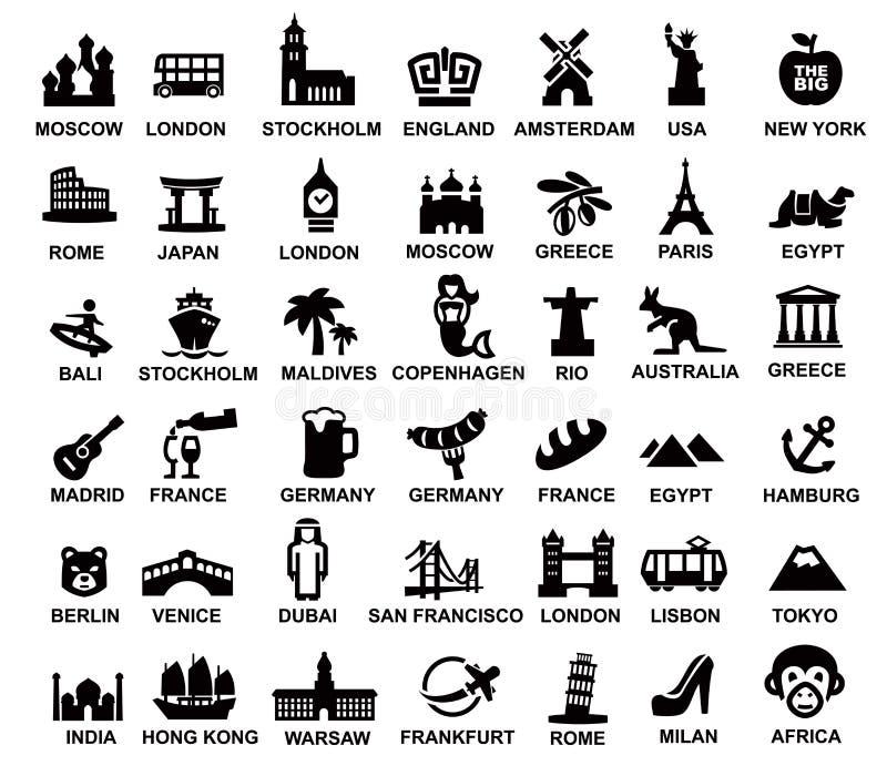 Viaje y señales ilustración del vector