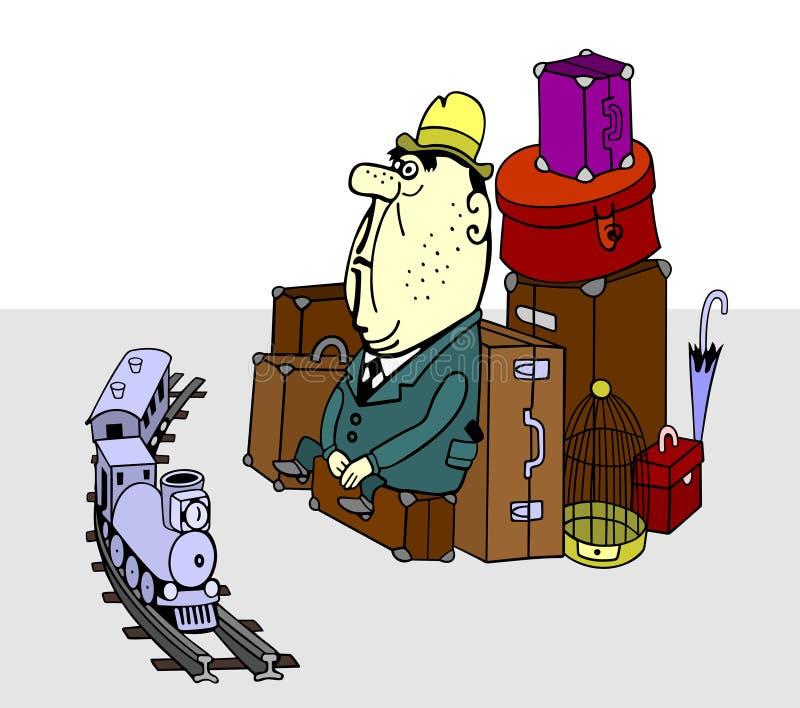 Viajero stock de ilustración