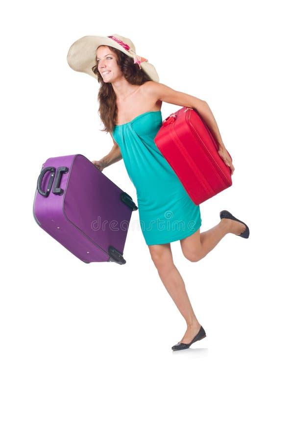 Viajero de la mujer fotos de archivo