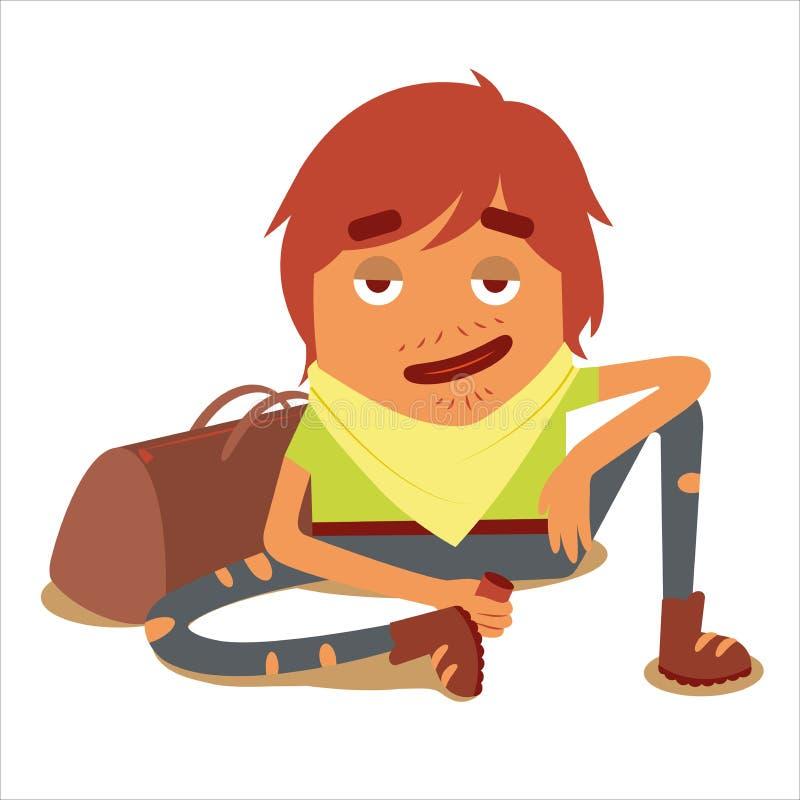 Viajero 3 del carácter con el bolso libre illustration