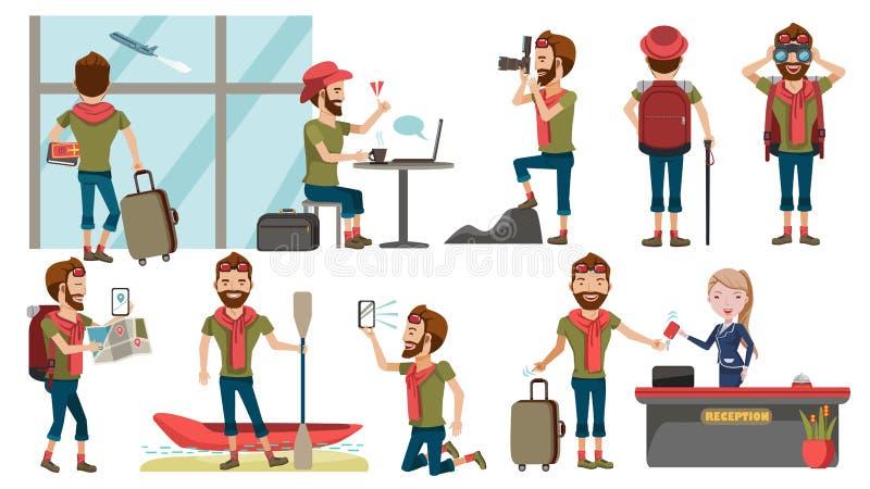 Viajero del hombre ilustración del vector