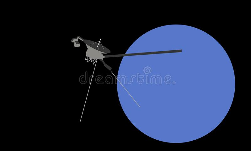Viajero 1 en Urano fotos de archivo libres de regalías