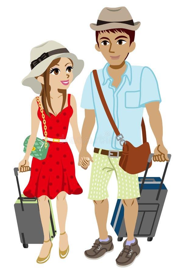 Viajero joven de los pares, aislado libre illustration