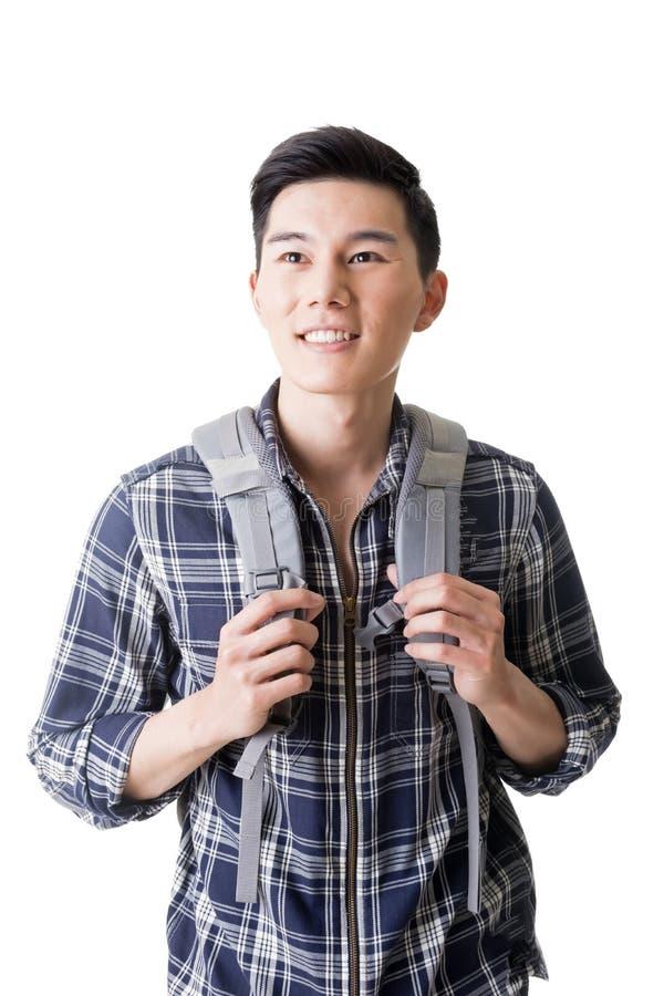 Viajero masculino joven atractivo fotografía de archivo
