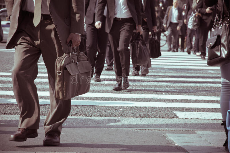 Viajeros de la ciudad de Tokio fotos de archivo