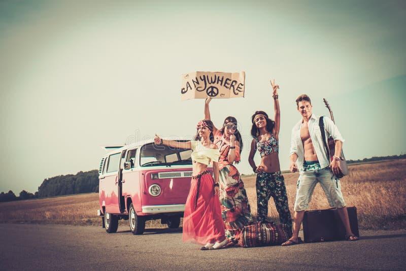 viajeros Multi-étnicos del hippie fotos de archivo libres de regalías
