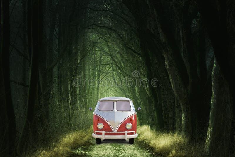 Viajes, Bosques, Naturaleza, Volkswagen Vintage foto de archivo
