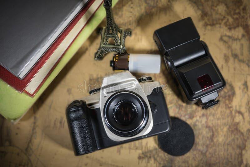 Viajes de la cámara de la película del viaje fotos de archivo libres de regalías