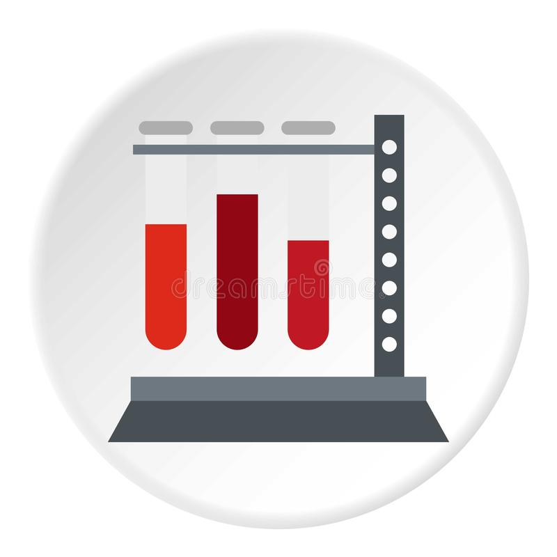 Vial for blood collection icon circle royalty free illustration