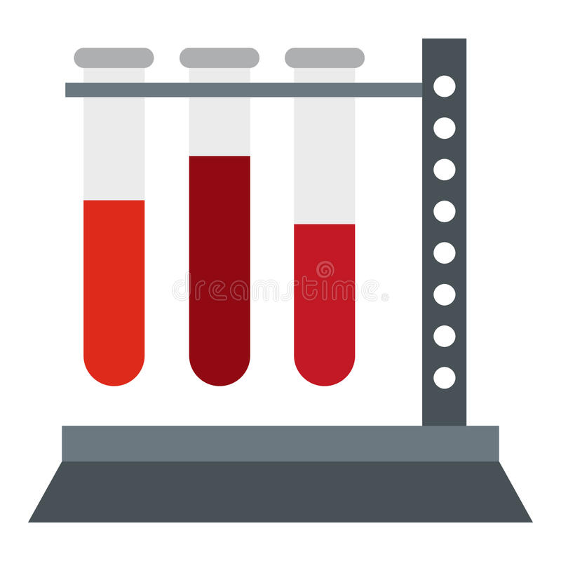 Free Vial For Blood Collection Icon, Flat Style Stock Images - 79609074