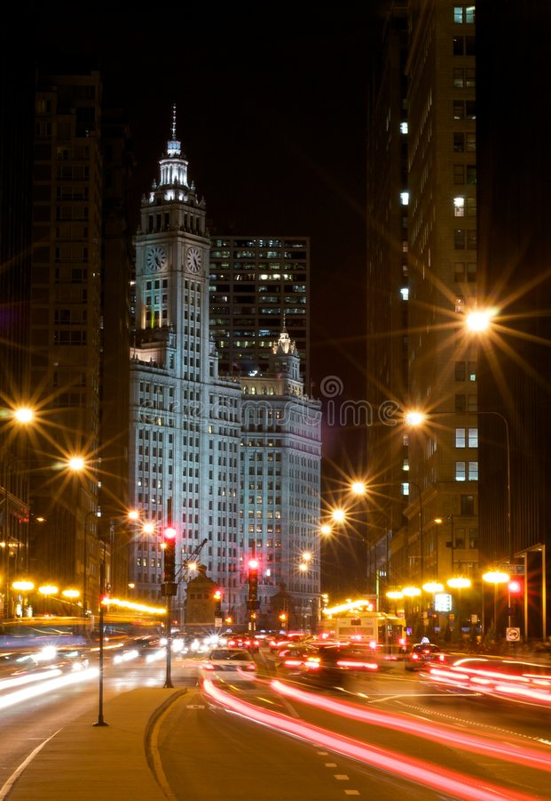Viale del Michigan fotografie stock