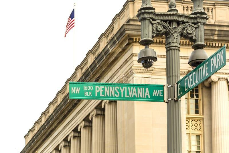 Viale della Pensilvania in Washington DC fotografia stock
