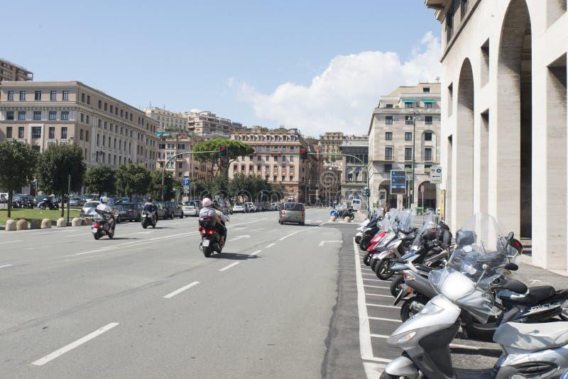 Viale delle Brigate Partigiane, Genova stock photos