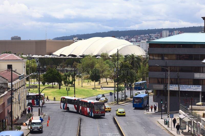 Viale di Gran Colombia a Quito, Ecuador fotografia stock libera da diritti