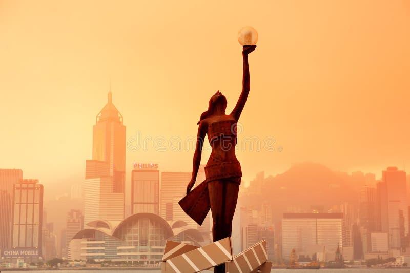 Viale di Hong Kong delle stelle immagine stock