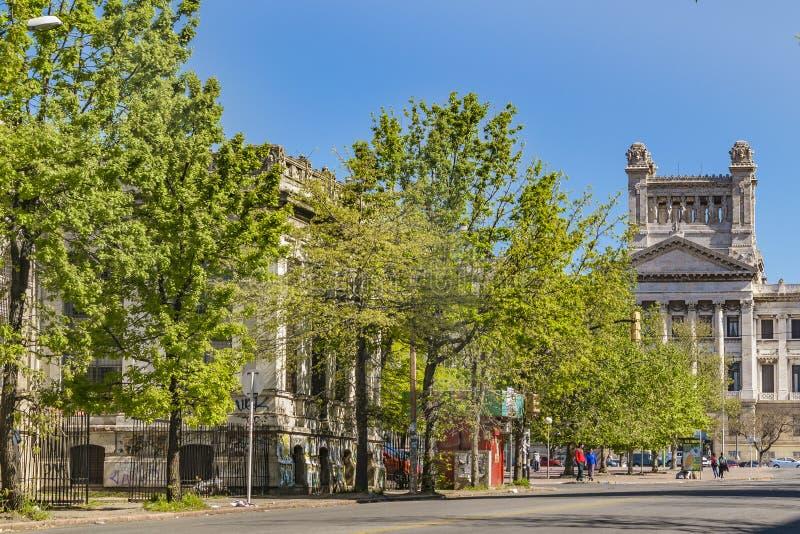 Viale generale del Flores, Montevideo, Uruguay fotografia stock libera da diritti