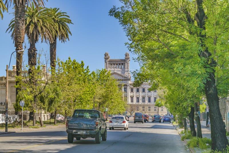 Viale generale del Flores, Montevideo, Uruguay fotografia stock