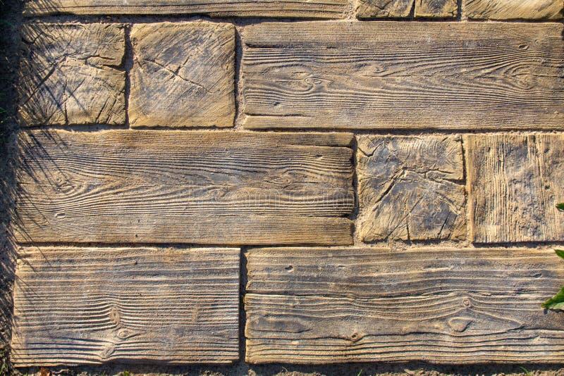Viale pedonale di legno originale immagine stock libera da diritti