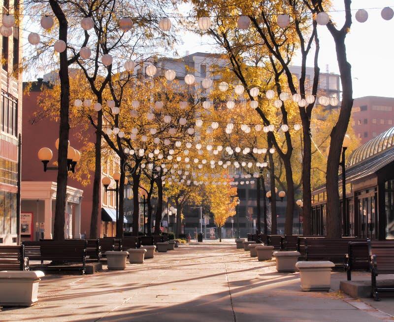Viale pedonale a Siracusa, NY fotografia stock libera da diritti