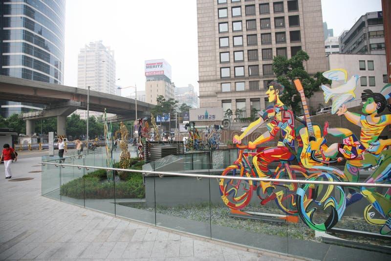 Viale quadrato di Seoul fotografia stock libera da diritti