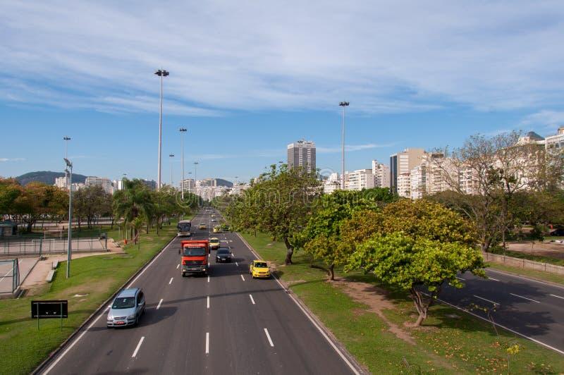 Viale in Rio de Janeiro City fotografia stock libera da diritti