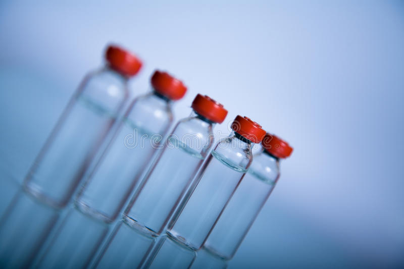 Vials for medicine or science stock photography