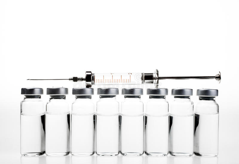 Vials and Syringe royalty free stock photography