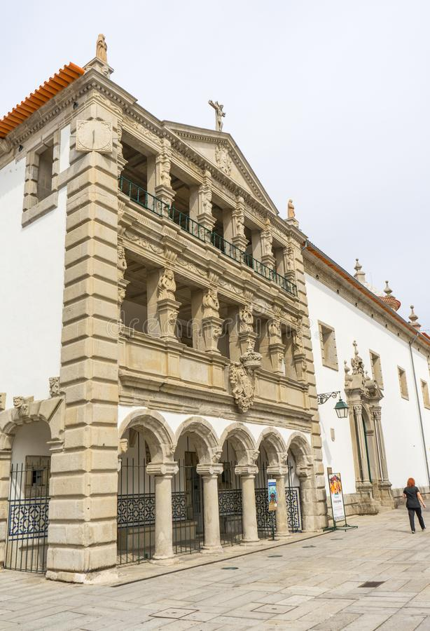 Viana do Castelo architecture and stores stock image