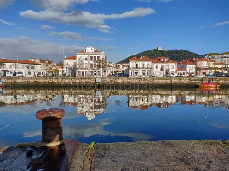 Viana do Castelo cityscape at early morning royalty free stock photography