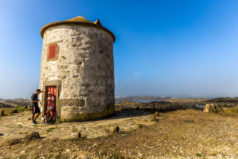 The Lookout - Viana do Castelo - Portugal. Viana do Castelo/Portugal - 09/29/18 - A lookout tower outside Viana do castelo royalty free stock photos