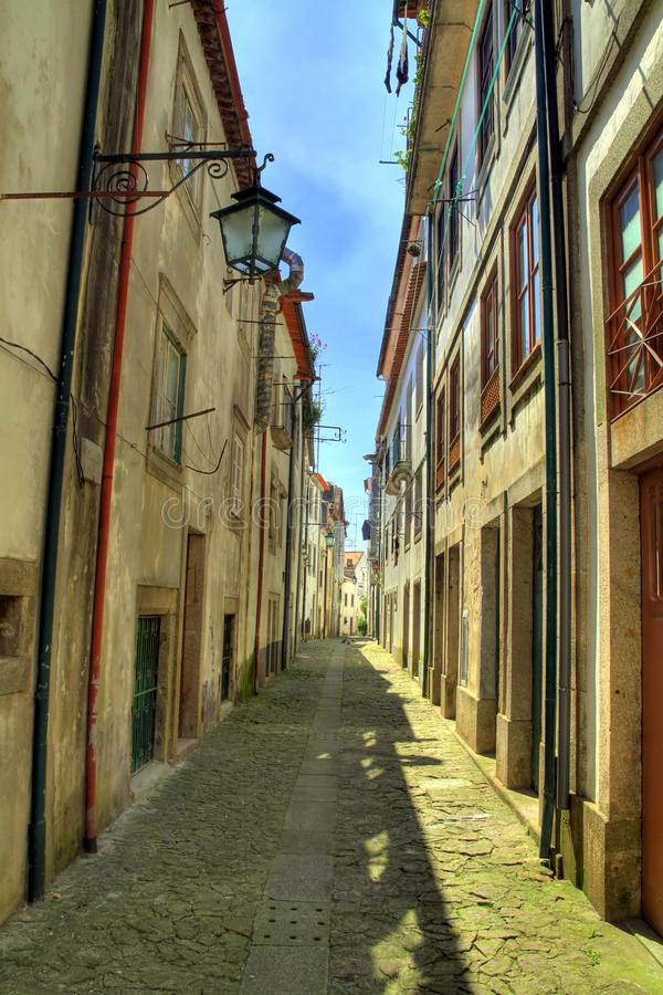 Viana do Castelo street stock image