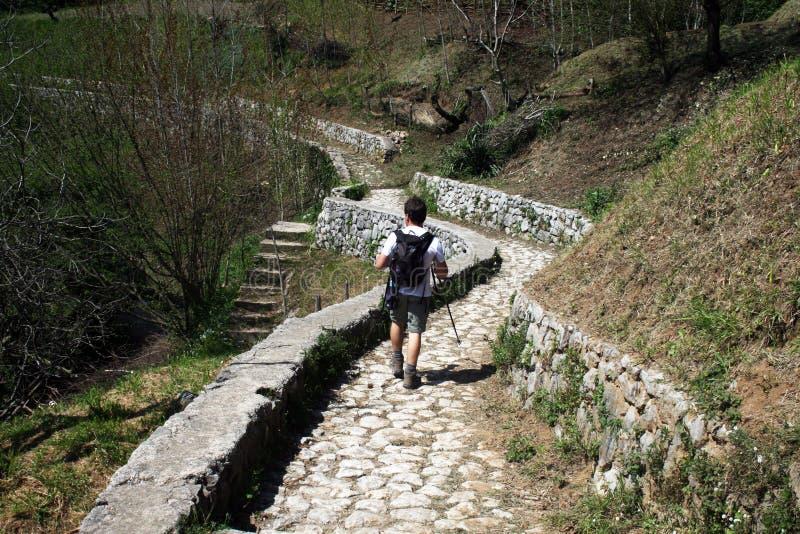 Viandante di Amalfi immagine stock libera da diritti