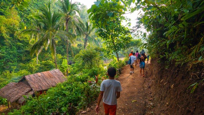 Viandanti della giungla sulla traccia immagine stock libera da diritti