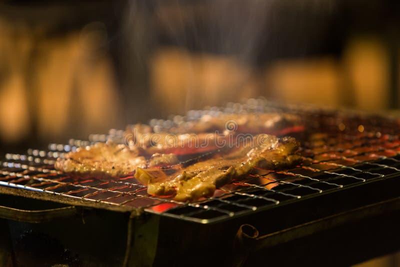 Viande assortie de poulet et porc sur le gril images libres de droits