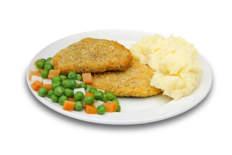 Viande avec des potatos et des légumes de fracas images libres de droits