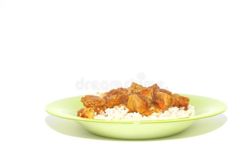 Viande avec du riz image libre de droits