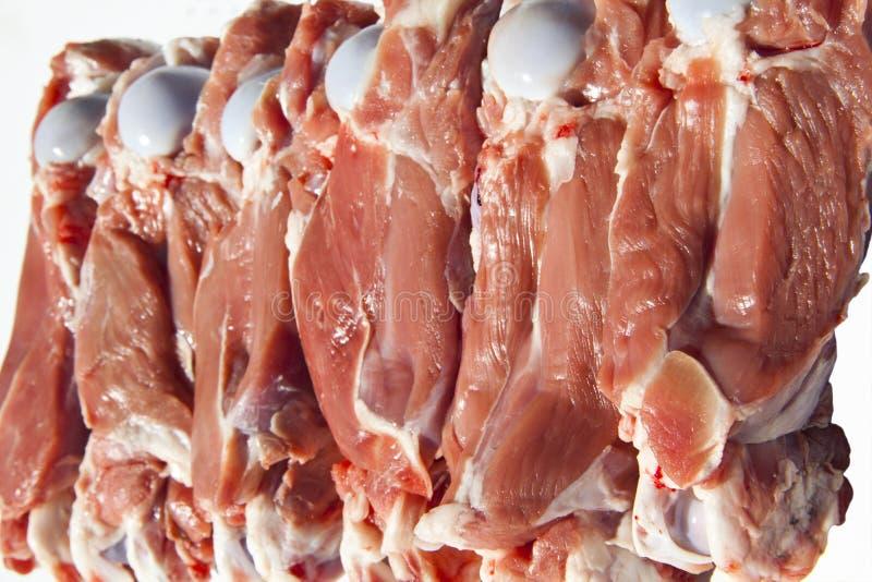 Viande avec la fève images libres de droits