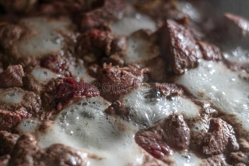 Viande bouillie image stock