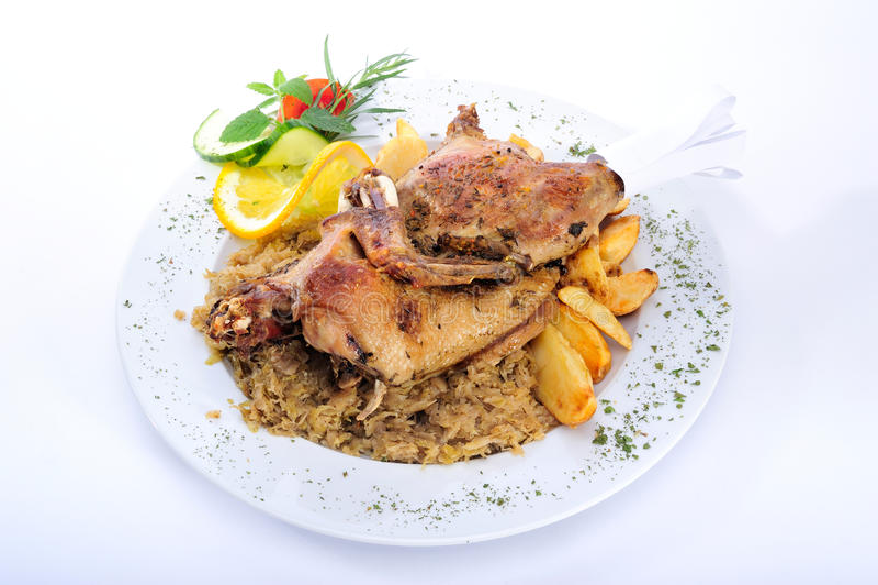 Viande de canard de rôti photographie stock libre de droits