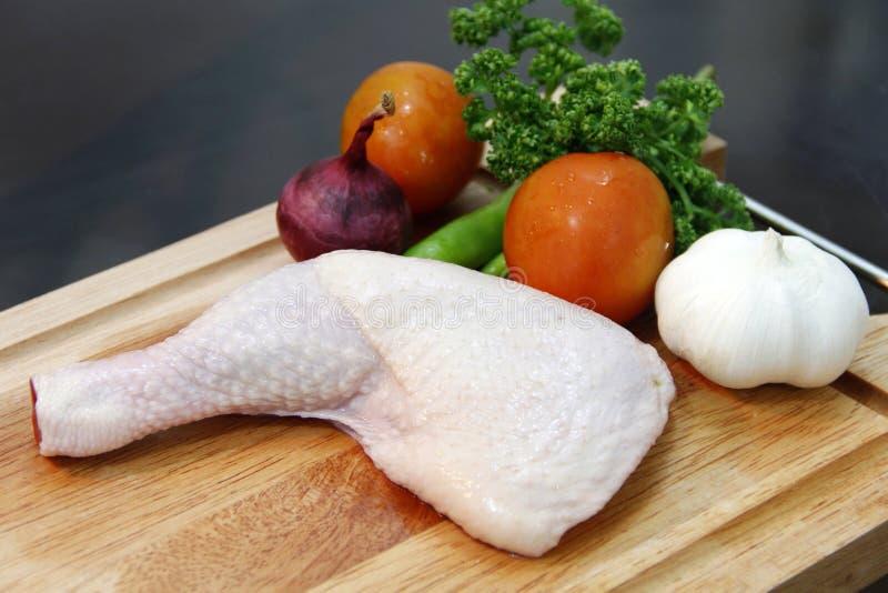 Viande de patte de poulet photo libre de droits