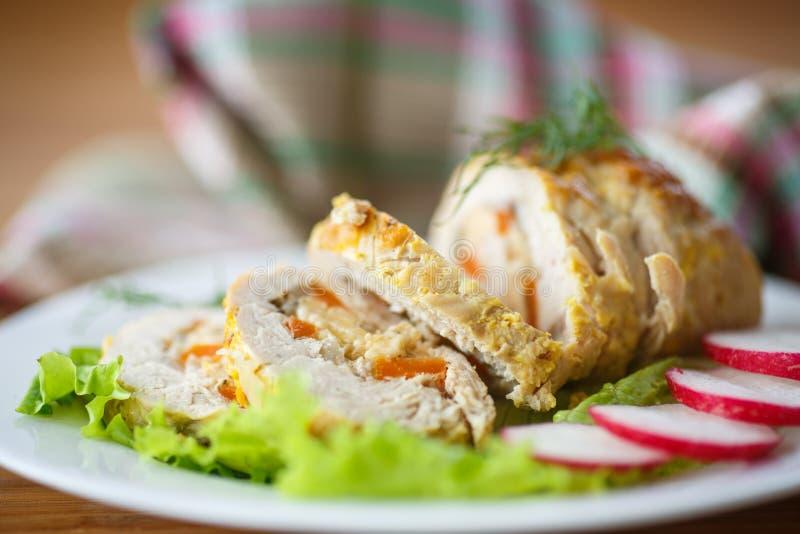 Viande de petit pain de poulet photo libre de droits