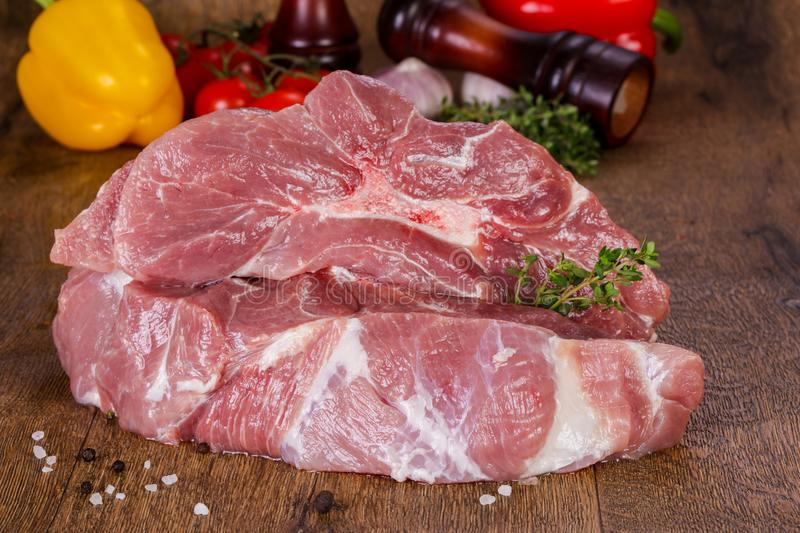 Viande de porc crue photographie stock