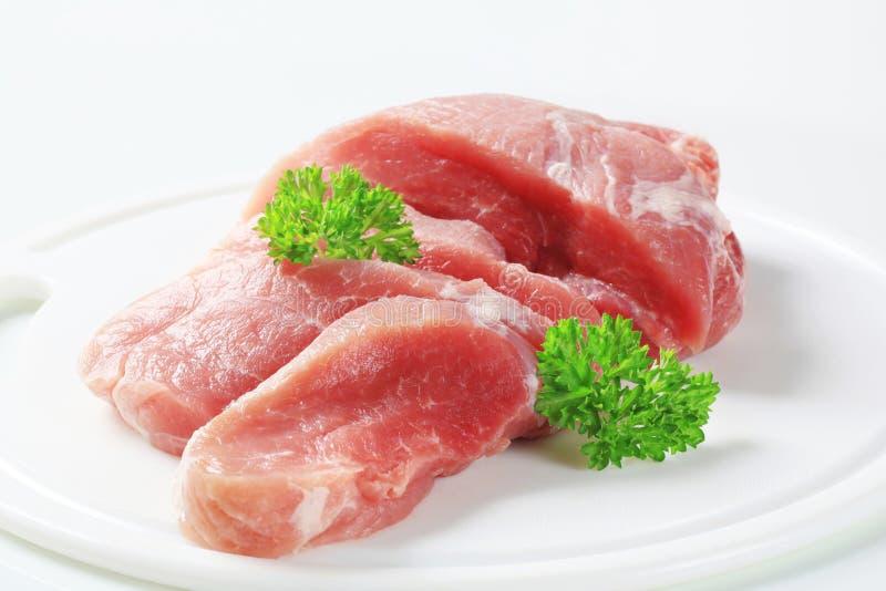 Viande de porc fraîche photos libres de droits