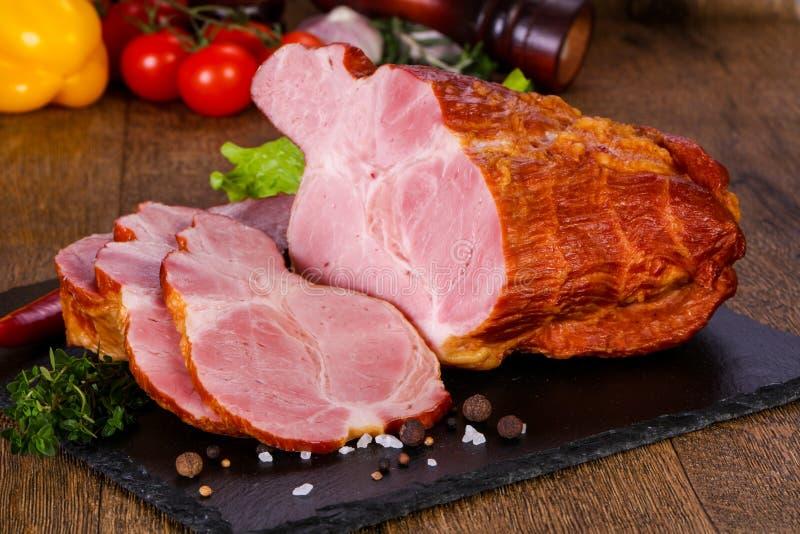 Viande de porc fumée photo stock