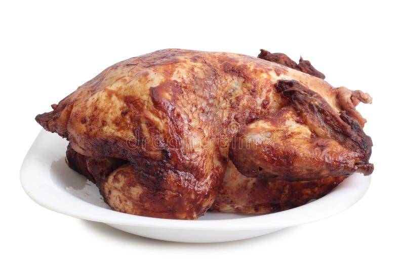 Viande de poulet sur le blanc neuf images stock