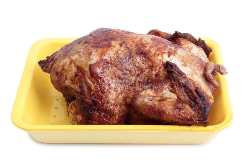 Viande de poulet sur le blanc trois photo stock