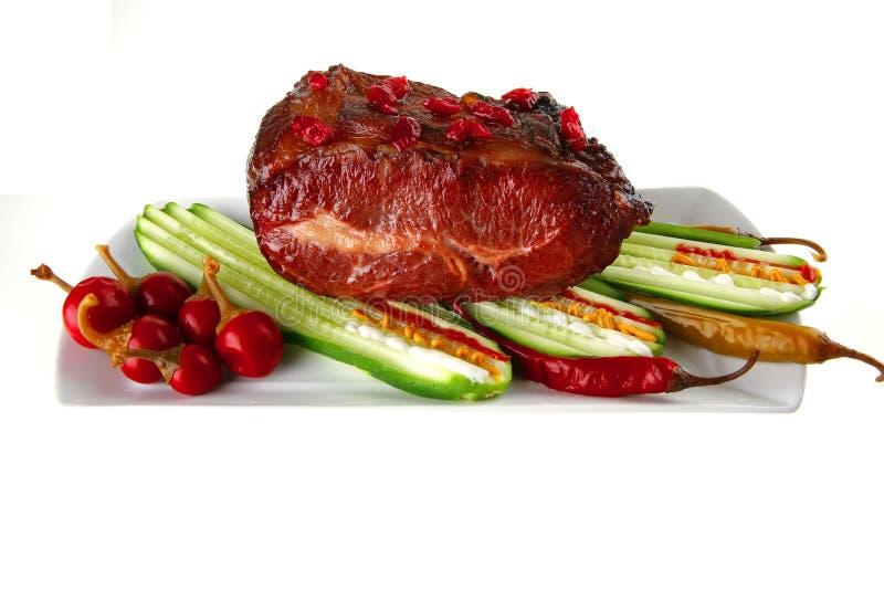 Viande et légumes image libre de droits
