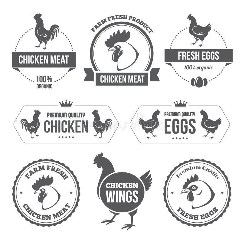 Viande et oeufs 1 de poulet illustration stock