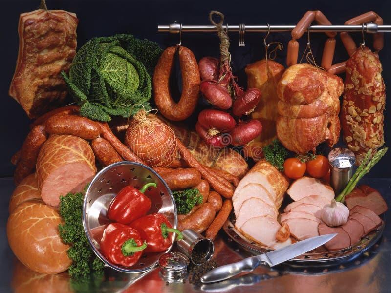 Viande et saucisse toujours images libres de droits