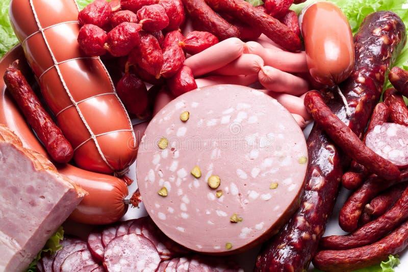 Viande et saucisses. photographie stock